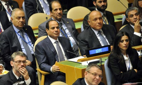 Egypt's El-Sisi scheduled to address UN Wednesday at 6:00PM CLT