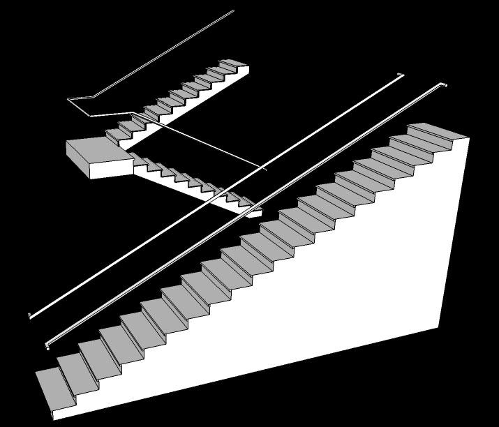 Desain Rumah Minimalis Lebar 3 Meter  menentukan ukuran tangga dan anak tangga untuk bangunan