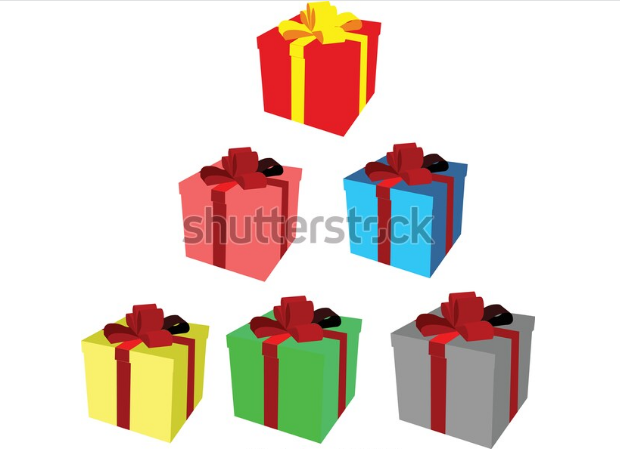 illustration free box gift