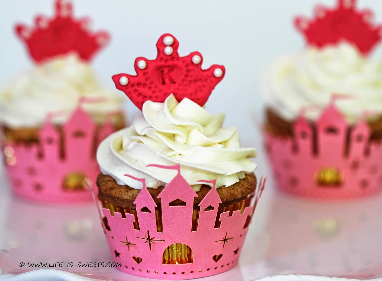 Custom Made Fondant Princess Crown Cupcake Toppers