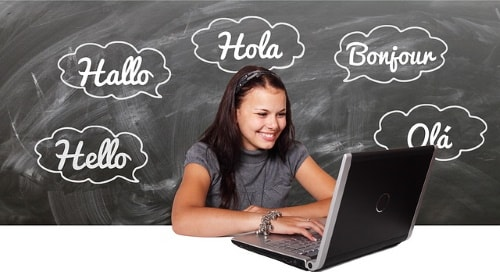Learning languages on internet