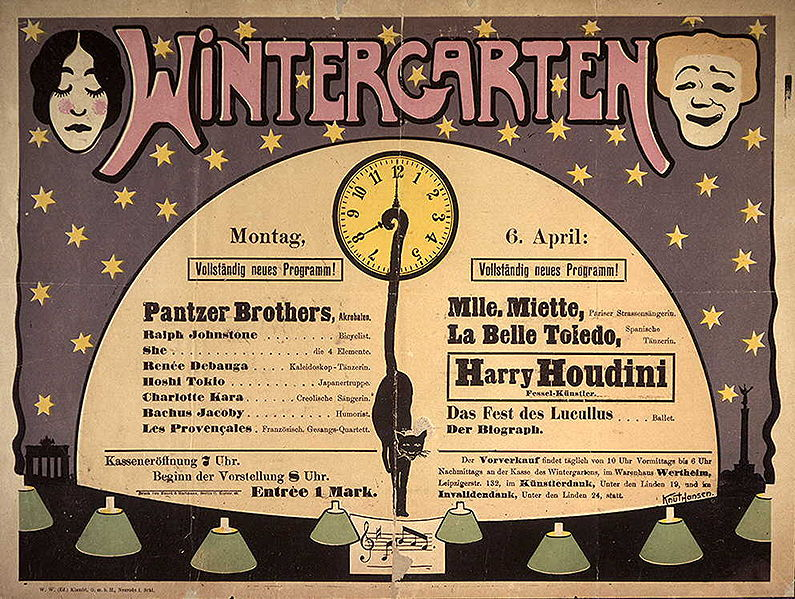 carnegie magic detective houdini at the wintergarten. Black Bedroom Furniture Sets. Home Design Ideas