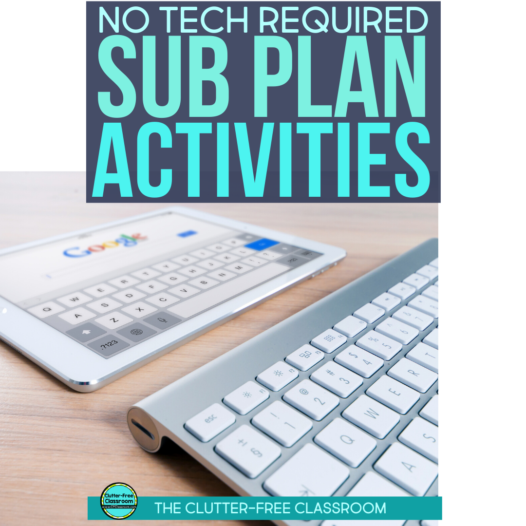 Sub Plan Activities That Don T Require Photocopies Or