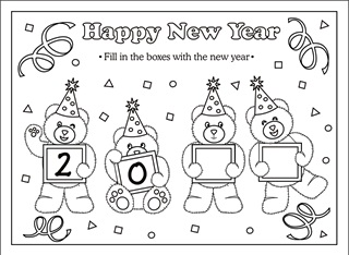 New years 2017 coloring worksheets coloring pages for New year coloring pages 2017