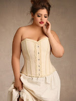 white plus size overbust steampunk corset