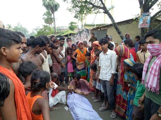 डूब कर युवक के मौत से आक्रोशित लोगों ने की घंटो बेनीपट्टी-साहरघाट पथ जाम