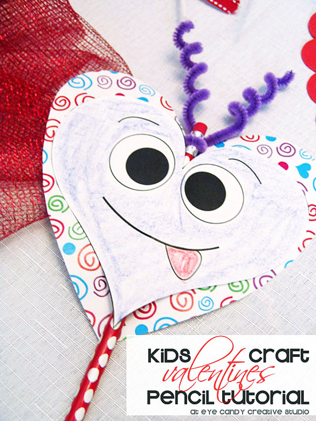 kids valentine craft, silly hearts, valentine coloring, classroom craft