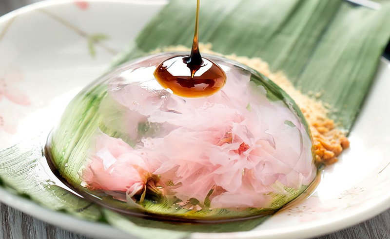 Cherry Blossom Raindrop Cake