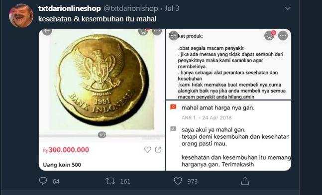 VIRAL DIJUAL 300JT UANG KOIN Rp.500,-