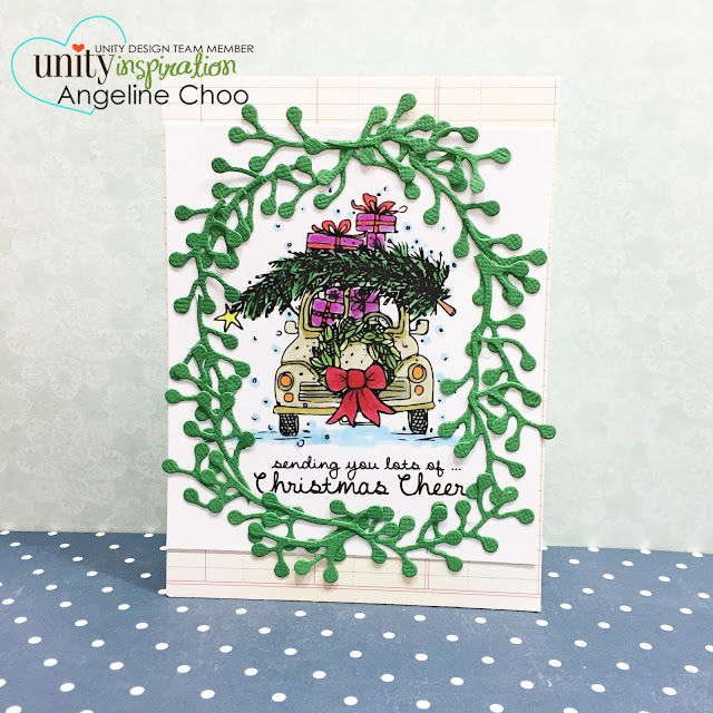 ScrappyScrappy: BIG Blog Hop + [NEW VIDEOS] with Unity Stamp - Love Bug Christmas #scrappyscrappy #unitystampco #card #cardmaking #stamp #stamping #christmas #holiday #lovebug #wreath