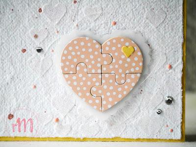 Stampin' Up! rosa Mädchen Kulmbach: Hochzeitskarte Puzzleherz mit Blüten des Augenblicks und Stanzformen Puzzleteile
