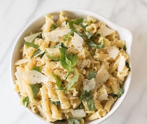 Basil Lemon Pasta Salad #dinner #lunch