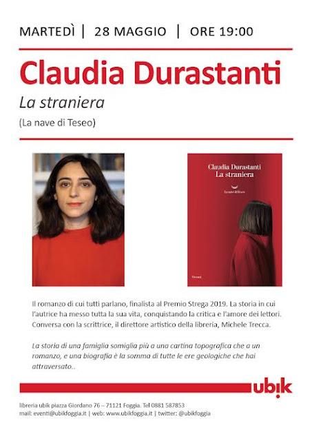 Migro, dunque sono: Claudia Durastanti. Il romanzo di cui tutti parlano, presentato da Ubik a Foggia