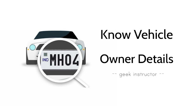 Find vehicle owner details using registration number