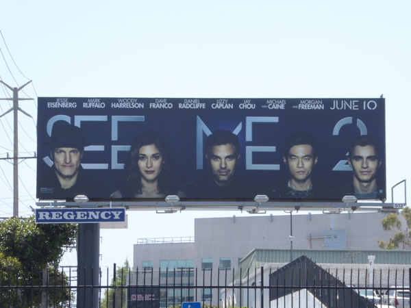 Interconnecting Now You See Me 2 billboard