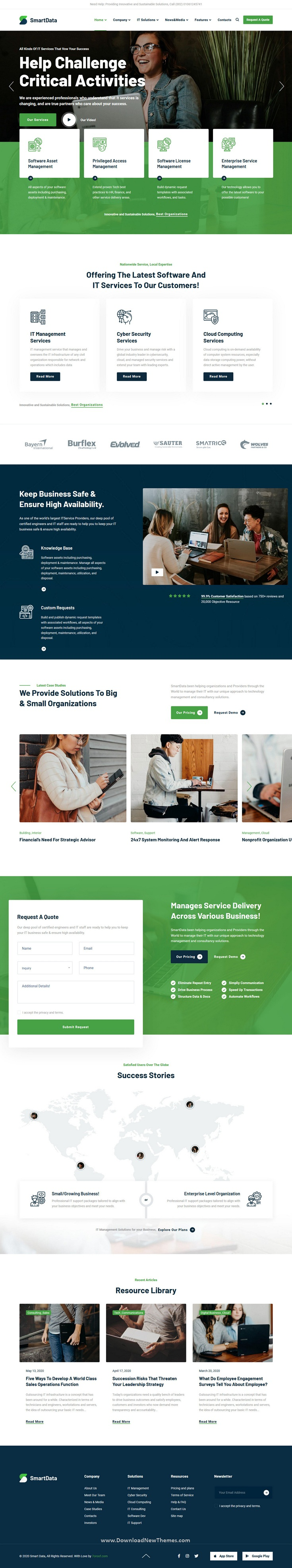 IT Solutions & Services HTML5 Template