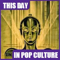 """Metropolis,"" the first scienc fiction movie, was released in theaters on January 10, 1927."