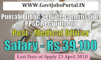 Punjab Public Service Commission Recruitment 2018–306 Medical Officer