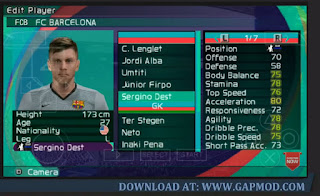 PES 2021 PPSSPP Free Download