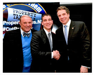 Dr. Cliff L. Wood, Mendel Taub, Governor Andrew Cuomo