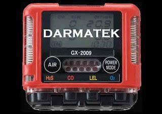 Darmatek Jual RKI GX-2009 Detektor multi gas portabel 4-gas kecil dan ringan Versi MSHA