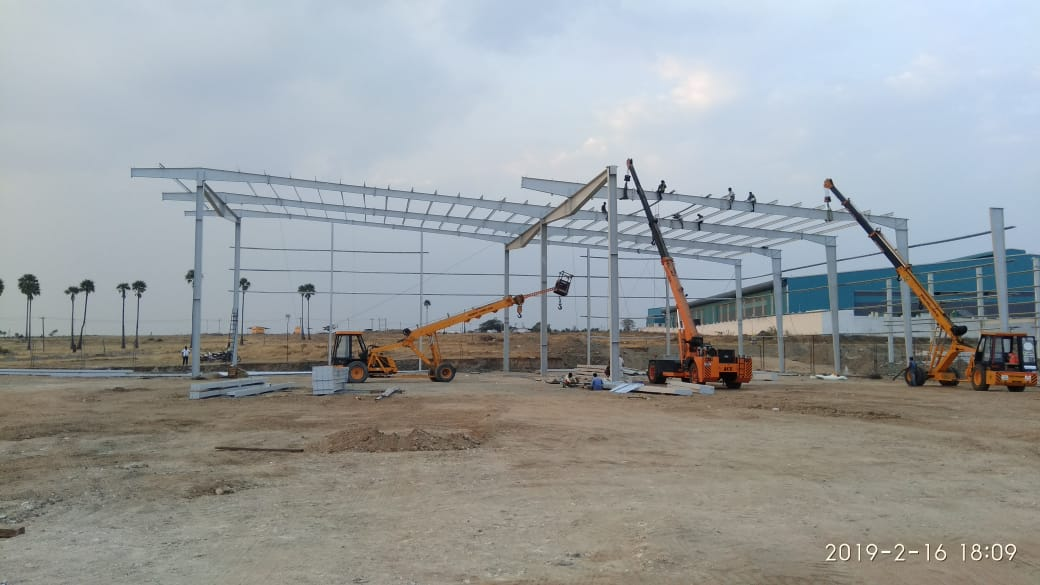 Units manufacturing steel building constructions