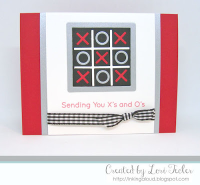 Sending You X's and O's card-designed by Lori Tecler/Inking Aloud-stamps and dies from My Favorite Things