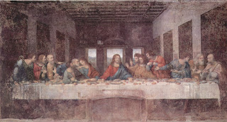Leonardo Da Vinci The Last Supper Paint HD Wallpaper