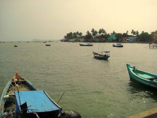Fishing boats in Phu Quoc Island in Vietnam