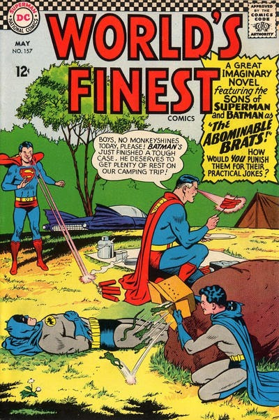Episode #398 Part I: Superman Family Comic Book Cover Dated May 1966: World's Finest Comics #157!