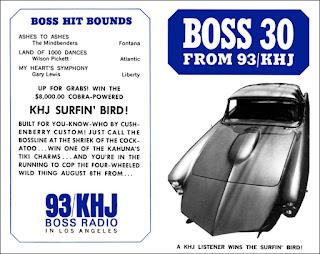 KHJ Boss 30 No. 54 - KHJ Surfin' Bird Car