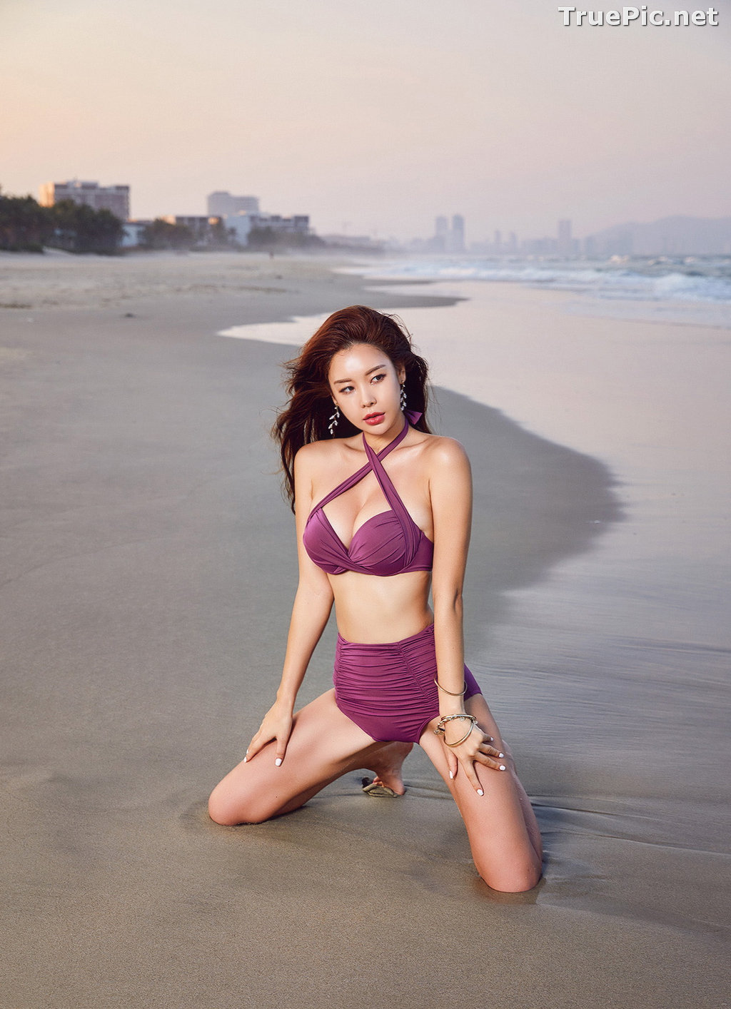 Image Park Da Hyun - Korean Fashion Model - RoseMellow Purple Bikini - TruePic.net - Picture-4