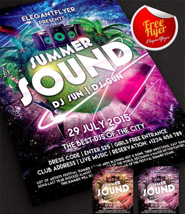 Summer Sound Party Free Template
