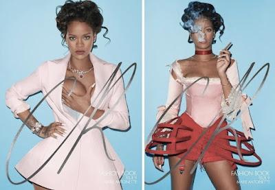 Terry Richardson Rihanna corset Marie Antoinette  Cr Fashionbook cover