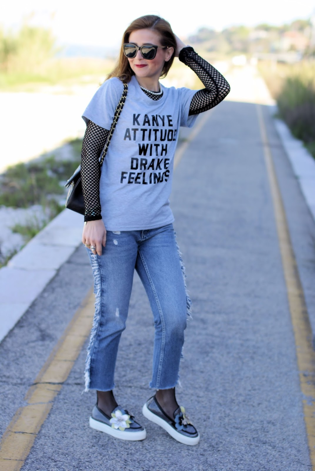 Kanye attitude with Drake feelings and 181 shoes on Fashion and Cookies fashion blog, fashion blogger style