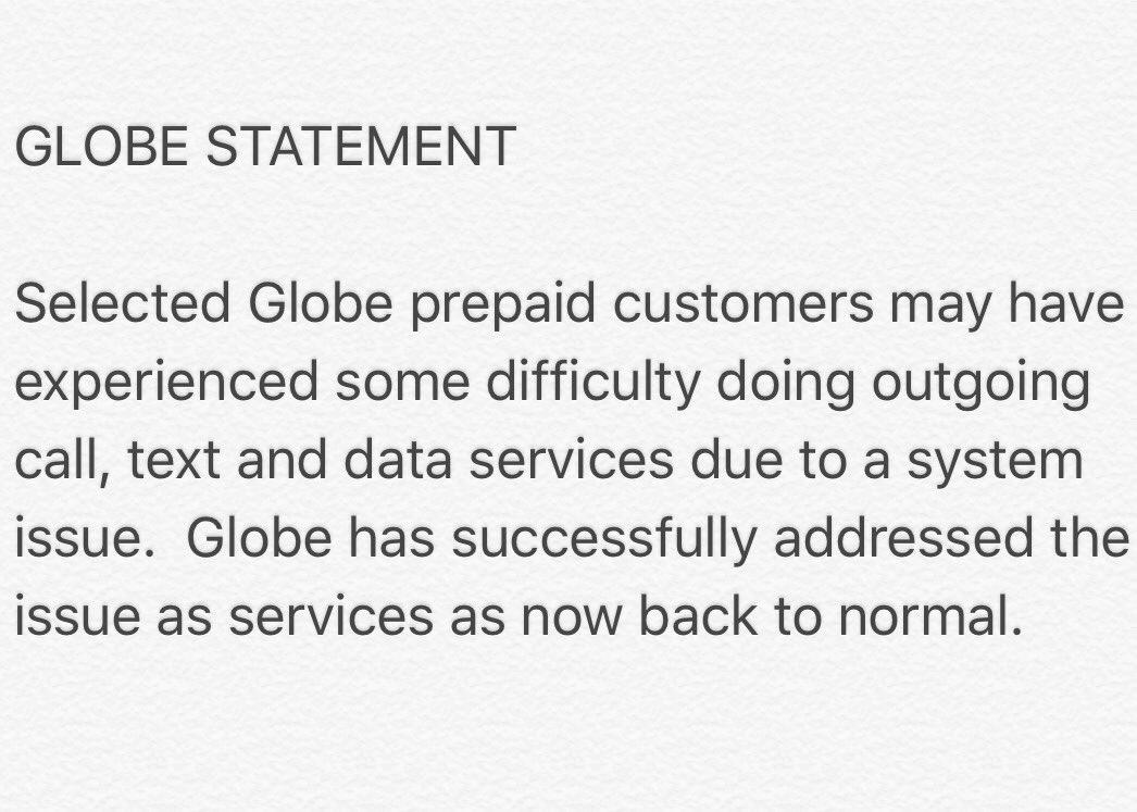 Globe services fail