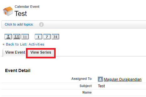 Infallible Techie: How to Delete recurring events Salesforce?