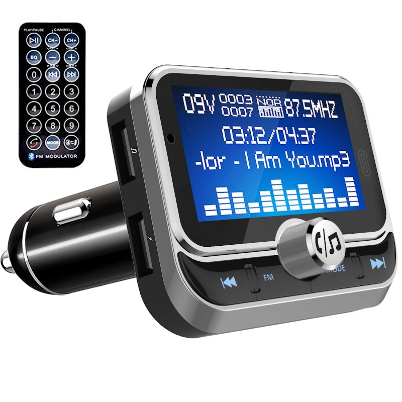 "AMAZON - 50% off Bluetooth FM Transmitter for Car,1.8"" LCD Display  with Remote"