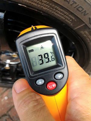 Mengukur panas ban yang mempengaruhi lifetime ban mobil