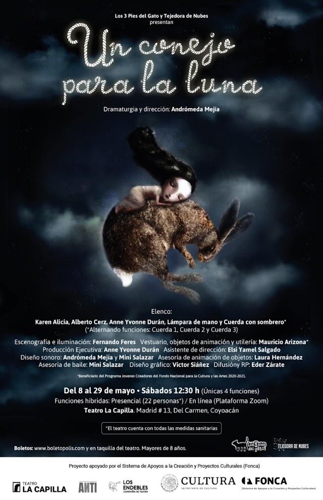 Un conejo para la luna se presentará en el Teatro La Capilla