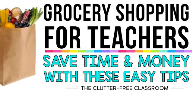 Teachers, The tips will save you a lot of time at the grocery store. They will make it easy for you to grocery shop on a budget. Best of all they will put an end to the habit of getting dinner at a drive-thru after staying too late at school. Click through for ideas!