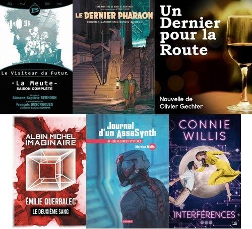 Couvertures livres lus en août