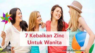7 Kebaikan Zinc Untuk Wanita