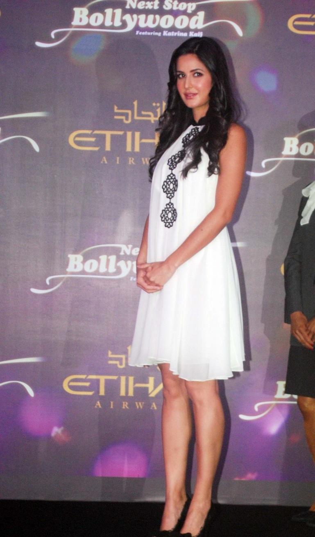 Katrina Kaif Hot Legs Showing Photo shoot In White Short Frock