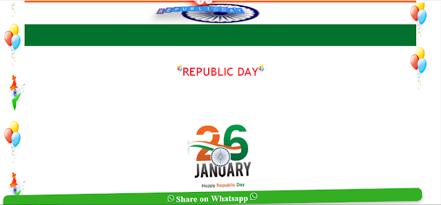 Republic Day ( 2021 ) Wishing Script Download For Blogger Website