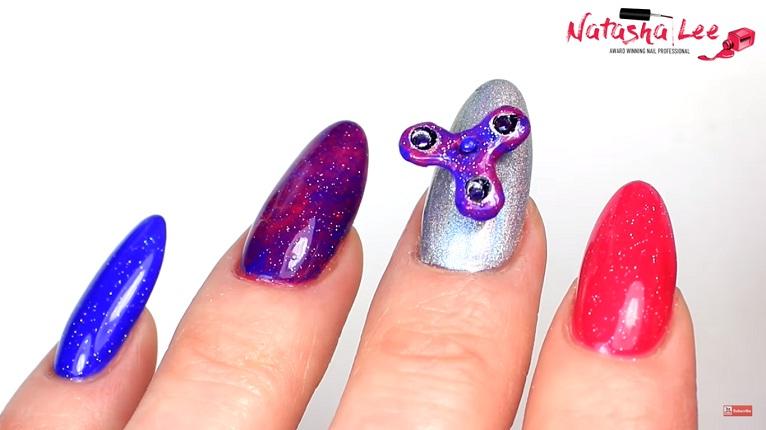 Fidget Spinner Nail Art Tutorial