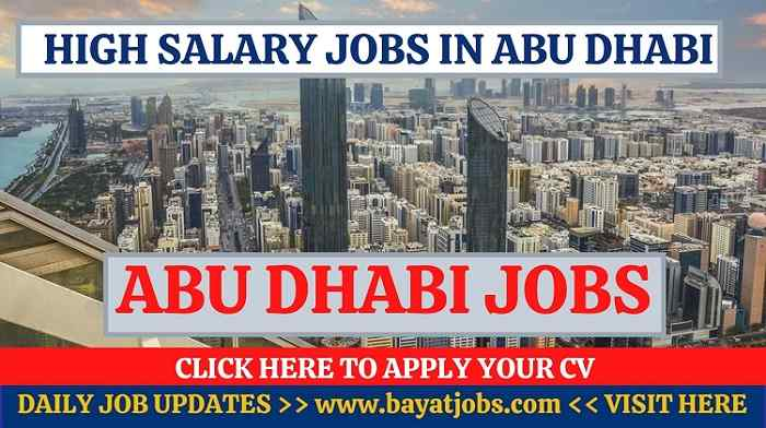 Jobs in Abu Dhabi Latest Career Openings 2020