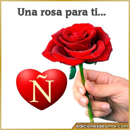 una rosa para ti Ñ
