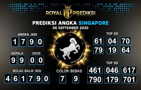 Royal Prediksi SGP Minggu 06 September 2020