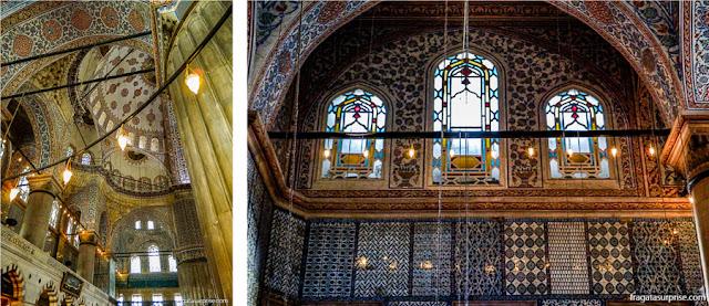 O interior da Mesquita Azul
